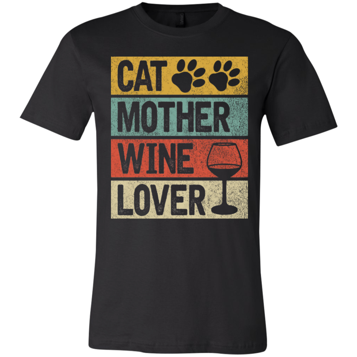 Cat Mother Wine Lover Unisex Jersey Short-Sleeve T-Shirt