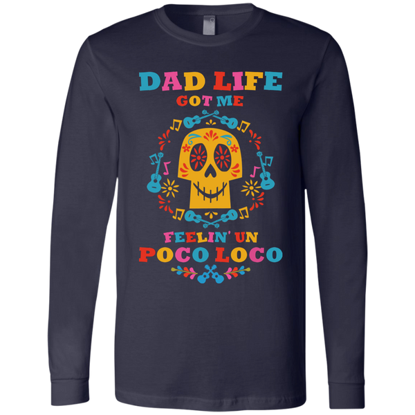Dad Life Loco Men's Jersey LS T-Shirt