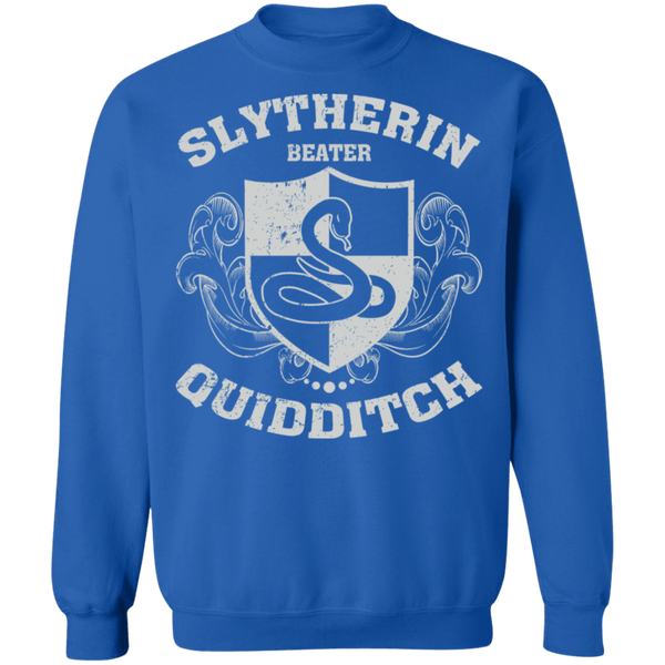 Slytherin Beater Crewneck Pullover Sweatshirt  8 oz.