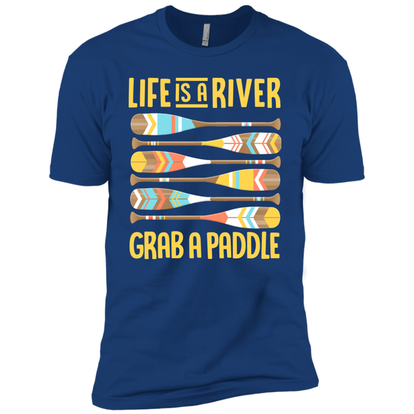 Life is a River, Grab a Paddle Premium Short Sleeve T-Shirt