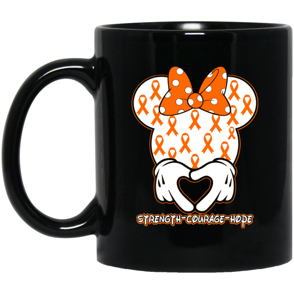 Minnie Orange Black Mug