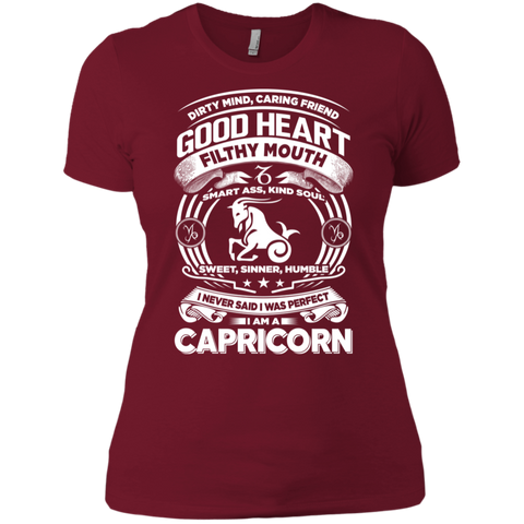 Good Heart Capricorn Zodiac Ladies T-Shirt