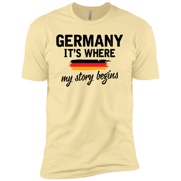 Germany It's Where My Story Begins Premium Short Sleeve T-Shirt