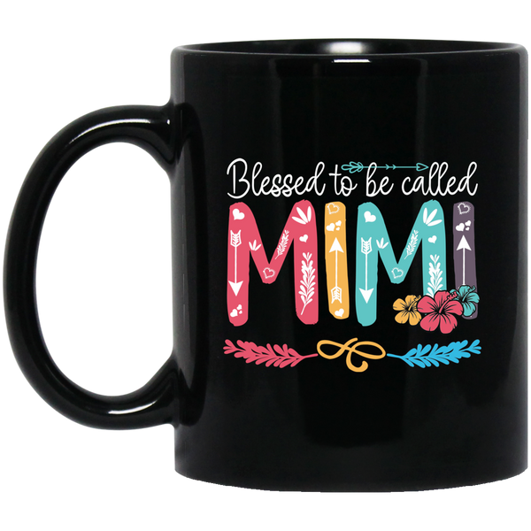 Blessed To Be Called Mimi Black Mug