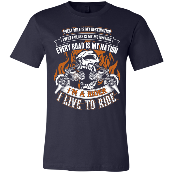 I Live To Ride Unisex Jersey Short-Sleeve T-Shirt