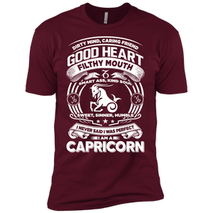 Good Heart Capricorn Zodiac Premium Short Sleeve T-Shirt