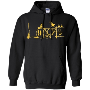 Harry Love with Yellow Lettering Pullover Hoodie