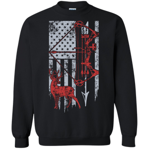 Bow Hunting Flag Crewneck Pullover Sweatshirt