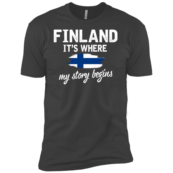 Finland It's Where My Story Begins Short Sleeve T-Shirt