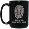 Baseball Is In My DNA 15 oz. Black Mug, 51001BM