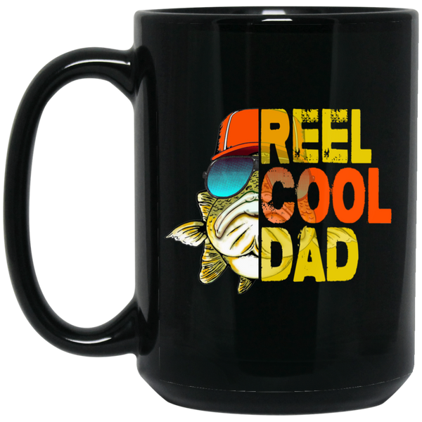 Reel Cool Dad Black Mug