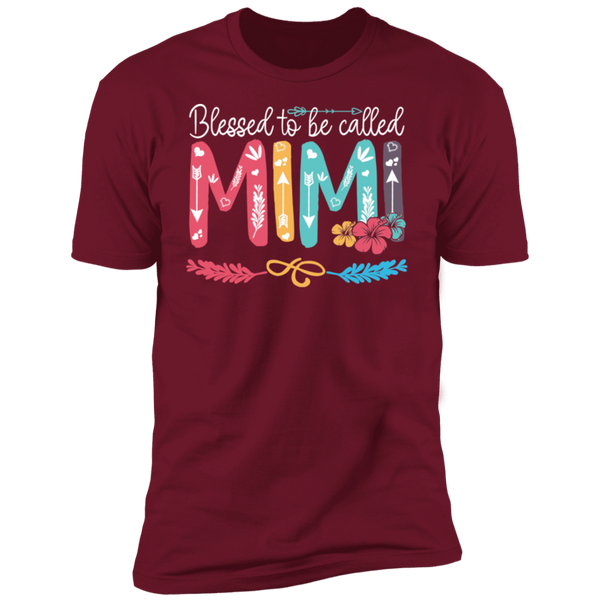 Blessed To Be Called Mimi V1 Premium Short Sleeve T-Shirt