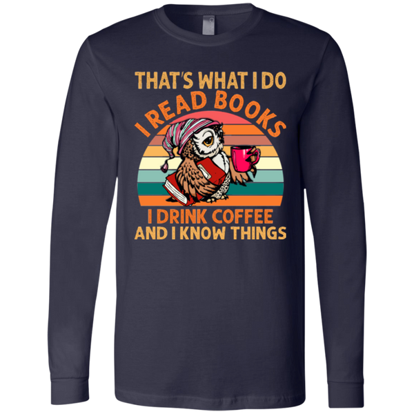 I Read Books and I Know Things Jersey LS T-Shirt