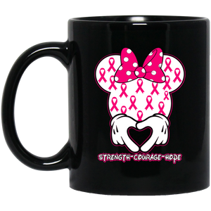 Minnie Pink Breast Cancer Awareness Mug