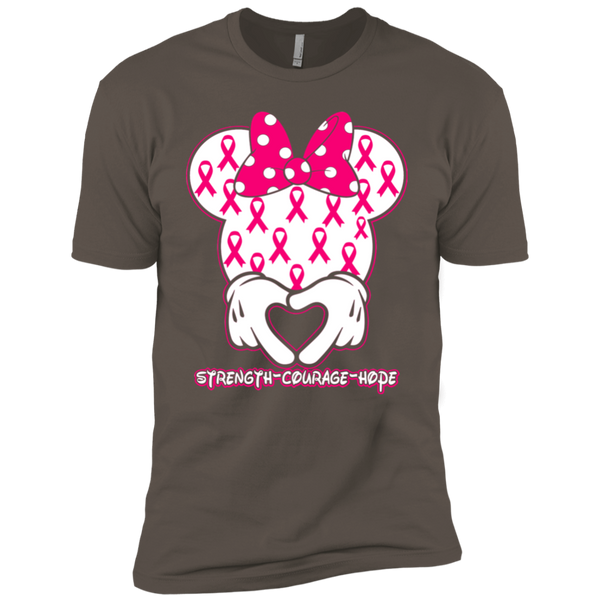 Minnie Breast Cancer Awareness Premium Short Sleeve T-Shirt