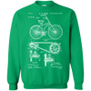 1890 Bicycle Patent Crewneck Pullover Sweatshirt