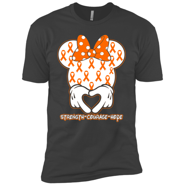 Minnie Orange Leukemia Awareness Premium Short Sleeve T-Shirt