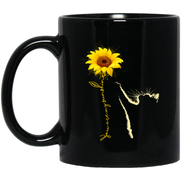 You're My Sunshine - Cat Black Mug