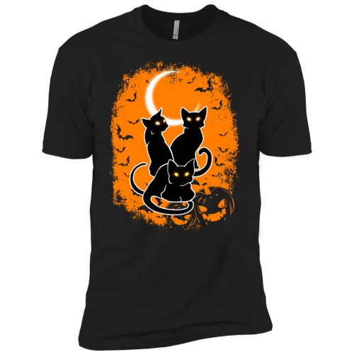 Black Cat Halloween Premium Short Sleeve T-Shirt