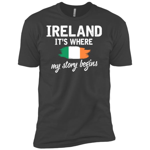 Ireland It's Where My Story Begins Premium Short Sleeve T-Shirt
