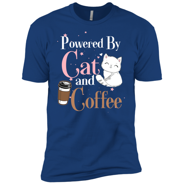 Powered By Cat and Coffee Premium Short Sleeve T-Shirt