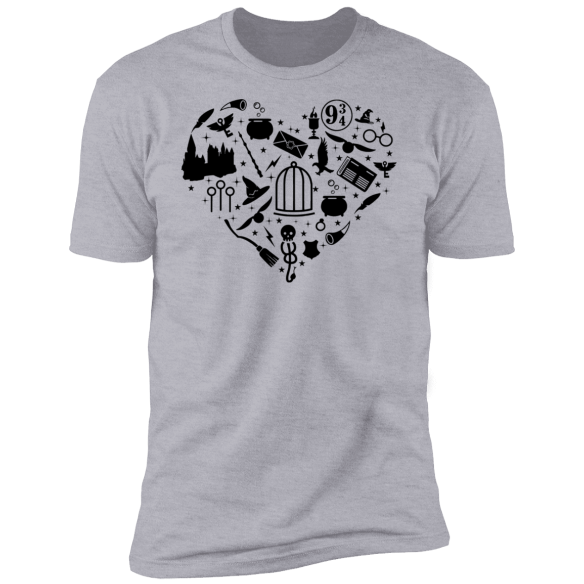 Harry Potter HP Heart Premium Short Sleeve T-Shirt