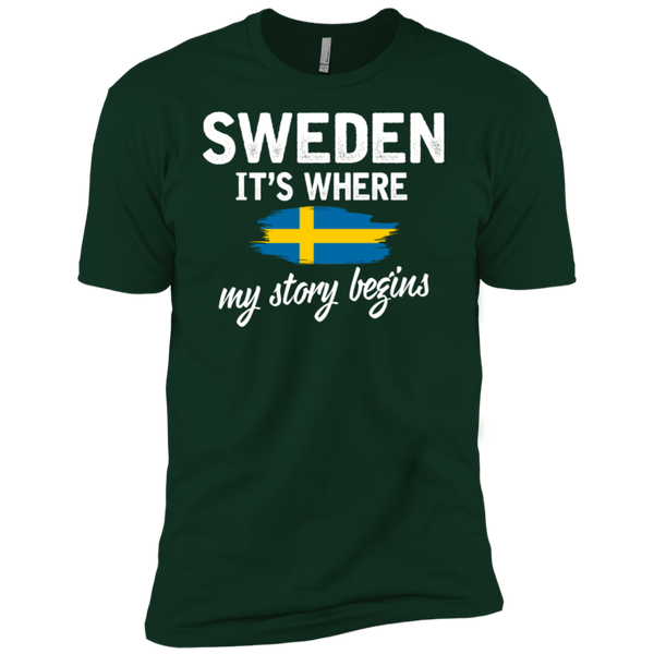 Sweden It's Where My Story Begins Premium Short Sleeve T-Shirt