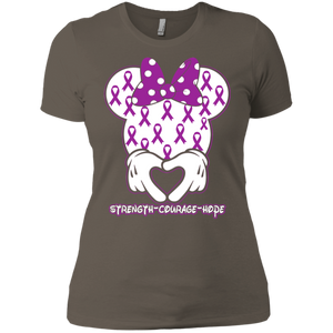 Minnie Epilepsy Awareness Ladies T-Shirt