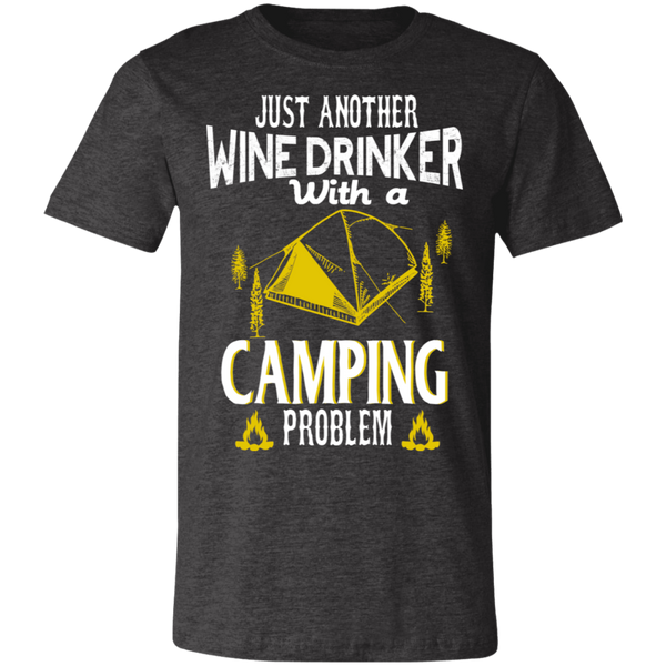 Wine Drinker With a Camping Problem BC Unisex Jersey Short-Sleeve T-Shirt