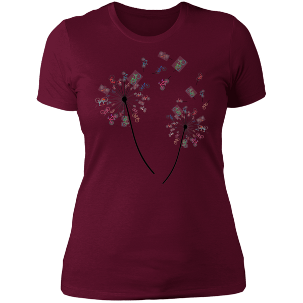 Bicycle FLower Ladies' Boyfriend T-Shirt
