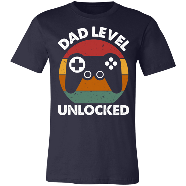 Dad Level Unlocked BC Unisex Jersey Short-Sleeve T-Shirt