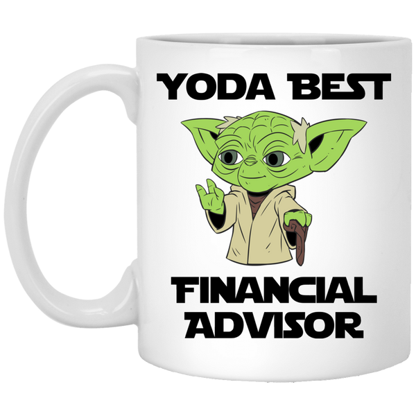Yoda Best Financial Advisor White Mug