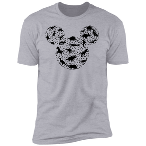 Mickey Head - Dinosaur V1 Premium Short Sleeve T-Shirt