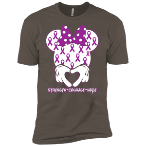 Minnie Epilepsy Awareness Premium Short Sleeve T-Shirt