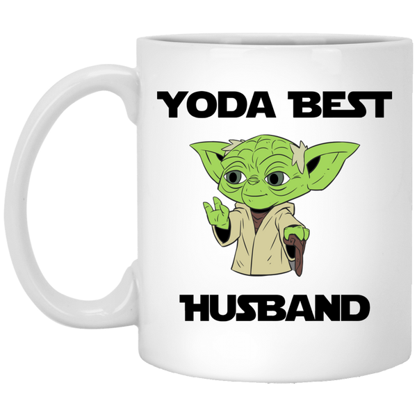 Yoda Best Husband White Mug