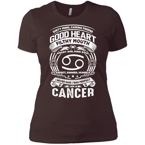 Good Heart Cancer Zodiac Ladies' Boyfriend T-Shirt