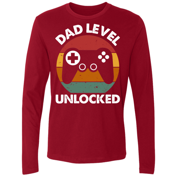 Dad Level Unlocked Men's Premium LS