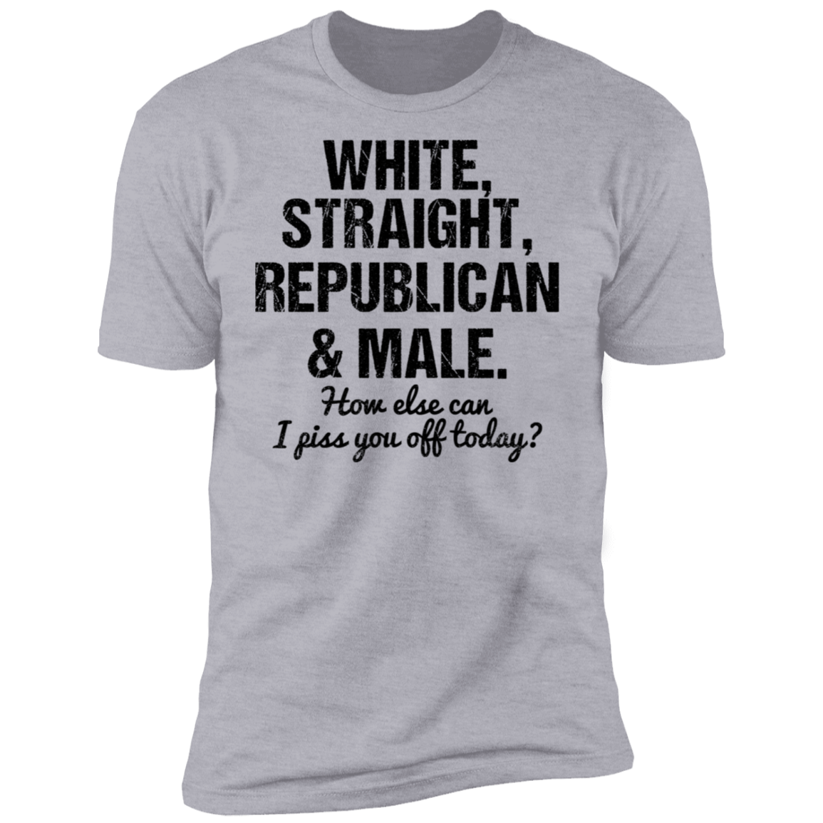 White Straight Republican and Male Premium Short Sleeve T-Shirt