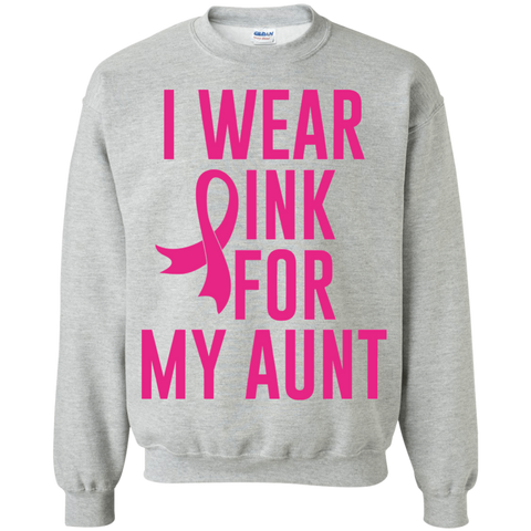 Breast Cancer Awareness - I Wear Pink for My Aunt Pullover Sweatshirt, 80003SW