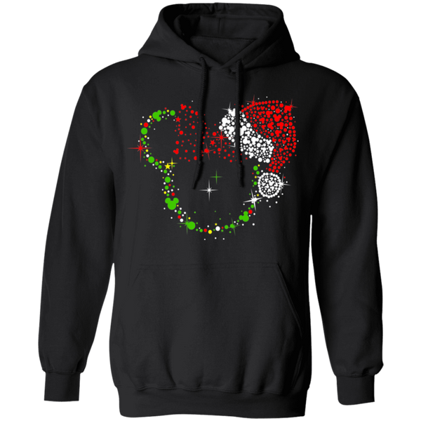 Christmas Minnie Dots With Santa Hat Gildan Pullover Hoodie