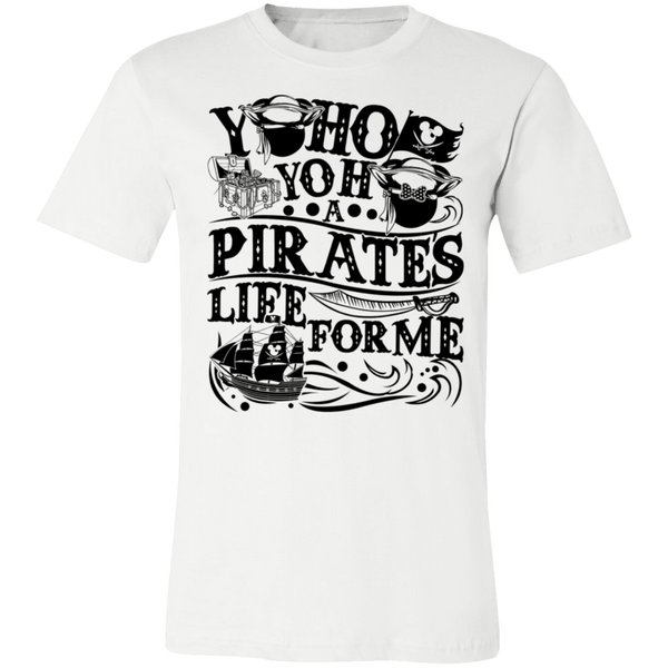 Yoho Pirates Life For Me 3001C Unisex Jersey Short-Sleeve T-Shirt