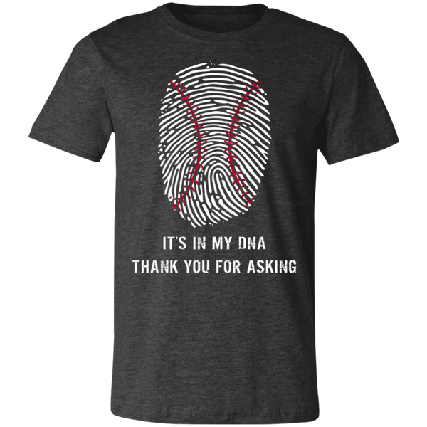 Baseball is in my DNA BC Unisex Jersey Short-Sleeve T-Shirt