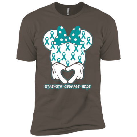 Minnie Teal Ovarian Cancer Awareness Premium Short Sleeve T-Shirt