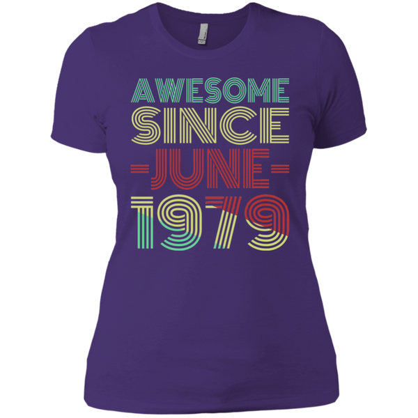 Awesome Since June 1979 Ladies' Boyfriend T-Shirt