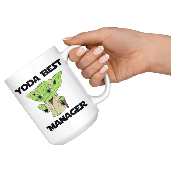 Yoda Best Manager 15oz Mug - TL