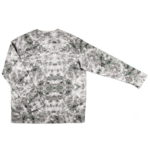 Men's style long sleeve sweatshirt made in digital printed organic cotton front view