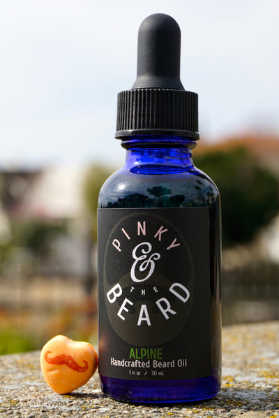 Pinky & the Beard <br>ALPINE Naturally Scented Handcrafted Beard & Pre-Shave Oil, <br>1oz bottle