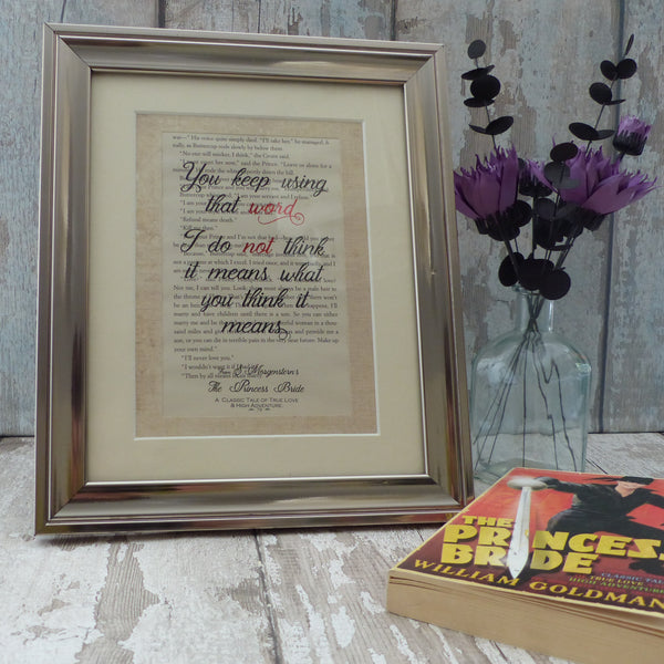 Framed book art