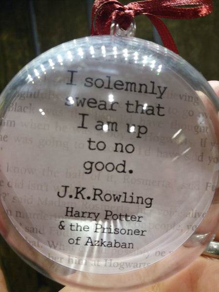 Harry Potter quote bauble J.K.Rowling quote