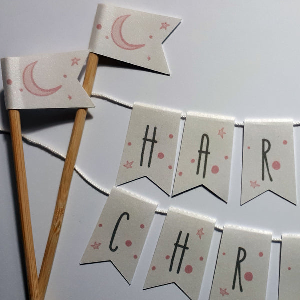 Personalised Name bunting Moon & Stars